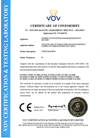Vibration Platform Machine have acquired the CE Certification